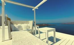 A nice luxury hotel in Fira, Santorini, Greece