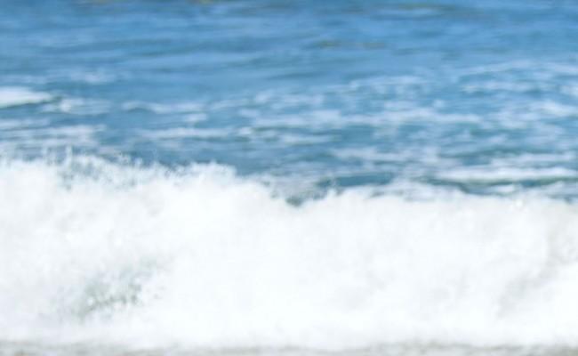 Surfer on the ocean