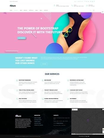 Live preview for The Future - Web Design Multipurpose HTML5